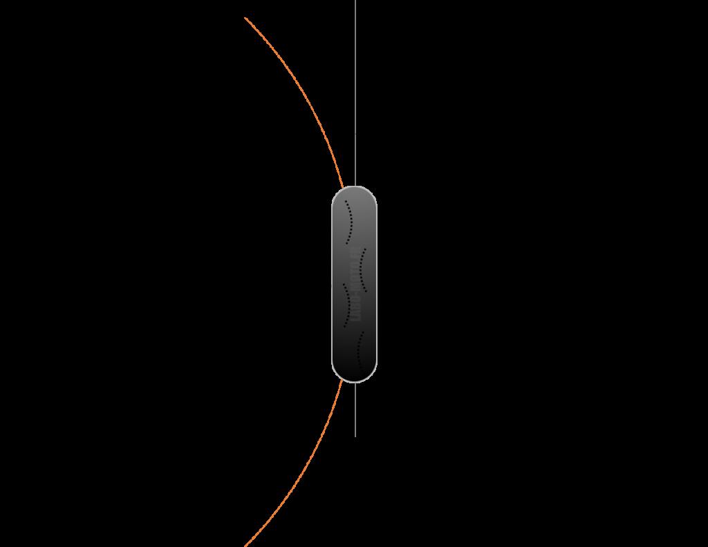 Position rouge avant et trajectoire tangente au virage